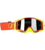 LAZER Goggle - Race Style Mirror Red - Yellow Fluo - Red (kol. Mirror Srebrny)