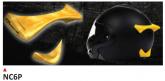 PRINTE helmet support spoiler gold