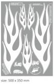 PRINT naklejka z białe grafika
