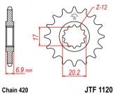Zębatka napędowa przednia JTF1120.12 - 12 zębów