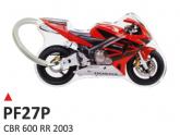 PRINT Dwustronny wypukły brelok na klucze Honda CBR 600 2003