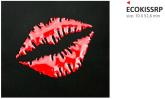 PRINT naklejka ecoprint 3D soft touch kiss czerwone