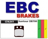 Klocki rowerowe EBC (spiekane) Suntour DB700 CFA341HH