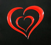 PRINT naklejka ecoprint 3D soft touch heart czerwone