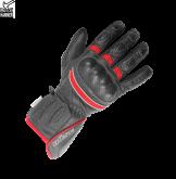 Rękawice motocyklowe damskie BUSE Pit Lane czarno-neonowo czerwo