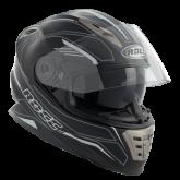 Kask motocyklowy ROCC 486 czarno-biały mat