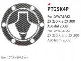 PRINT naklejka na wlew paliwa Kawasaki ZX250R ZX300ABS dal 2008