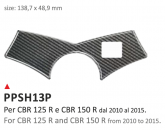PRINT Naklejka na półkę kierownicy CBR 125R CBR 150R 2010/2016