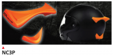 PRINTE helmet support spoiler orange