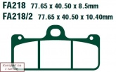 Klocki hamulcowe EBC EPFA218HH Extreme Pro (kpl. na 1 tarcze)
