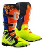 Buty motocyklowe GAERNE G-REACT GOODYEAR pomarańczowo-niebiesko-żółte 41