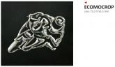 PRINT naklejka ecoprint 3D soft touch moto srebrne