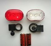 Lampki Rowerowe XC-8001 Zestaw p+t