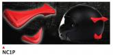 PRINT helmet support spoiler czerwone