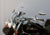 Uniwersalna szyba do motocykli bez owiewek MRA, forma HITR, przyciemniana