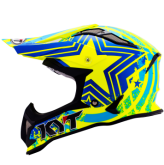 Kask motocyklowy KYT STRIKE EAGLE PATRIOT niebiesko-żółty