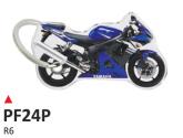 PRINT Dwustronny wypukły brelok na klucze Yamaha R6 blu